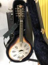 A real resonator Mandolin. Sounds and plays like you'd hope.
